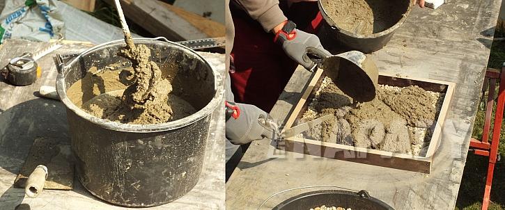 míchání betonu