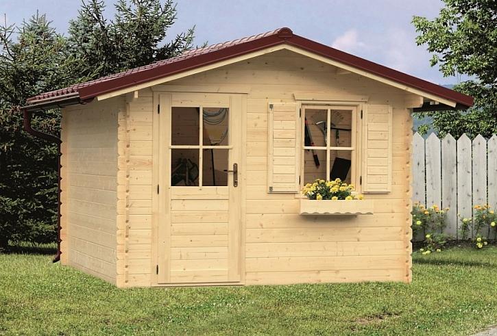 Dřevěný zahradní domek je vhodné ošetřit impregnací a nátěrem