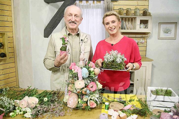 Květinový etažér na slavnostně prostřený stůl (Zdroj: archiv FTV Prima)