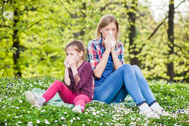Matka s  dcerou alergie