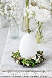 Vytvořte si jako velikonoční dekoraci hnízda na vajíčka z buxusu