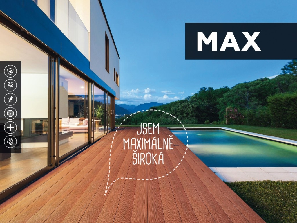 TERASY MAX - maximálně praktické a rychlé řešení terasy