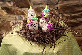 Ozdobte si vajíčka netradičně polymerovou hmotou