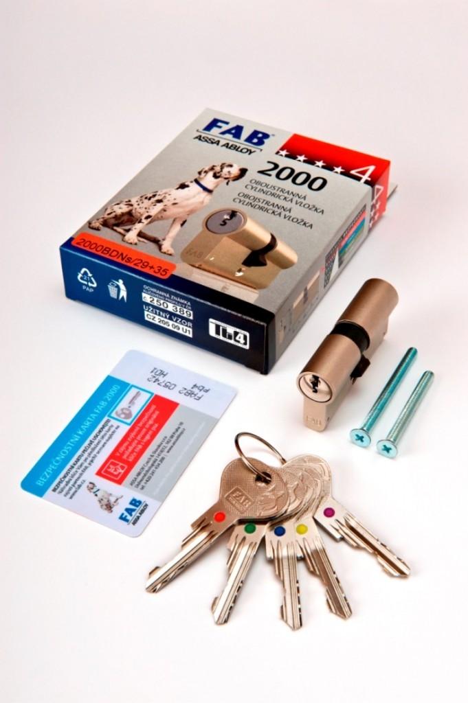 Zámky a klíče FAB mají spoustu vychytávek