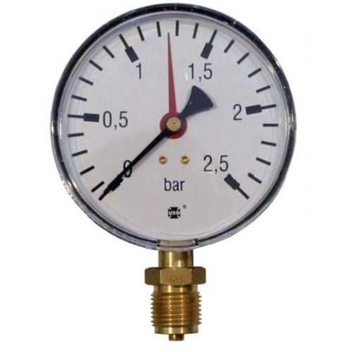 Manometr 0-2,5 bar spodní D100