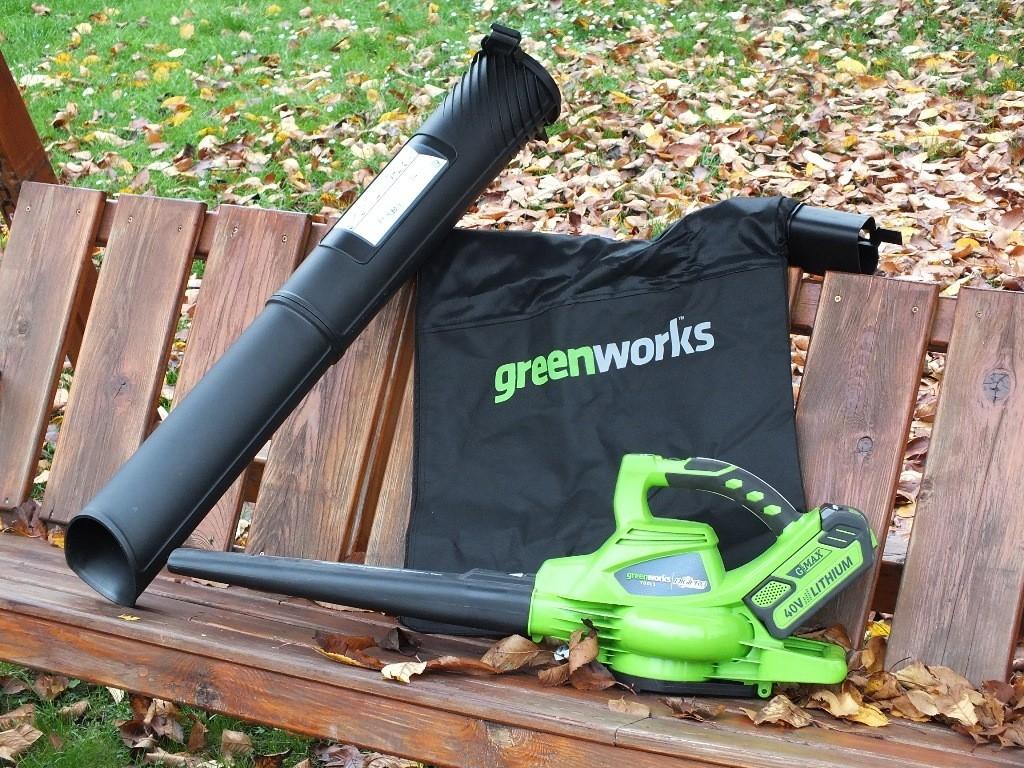 Foukač Greenworks GWBV 4028 - uragán na baterky