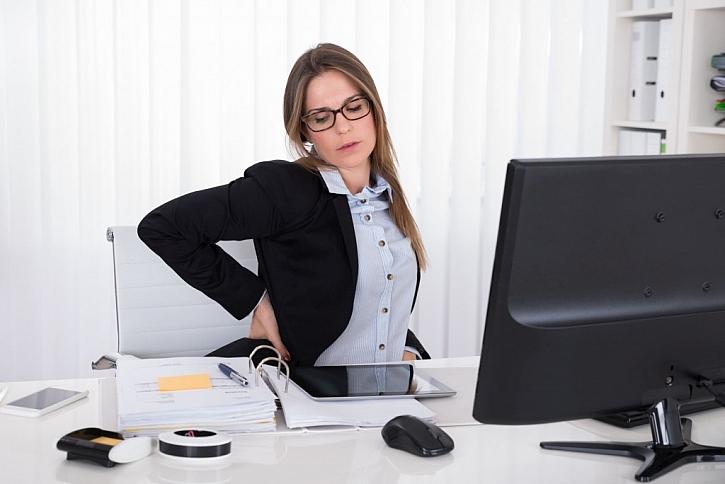 Bolesti zad lze předejít pořízením vhodné pracovní židle