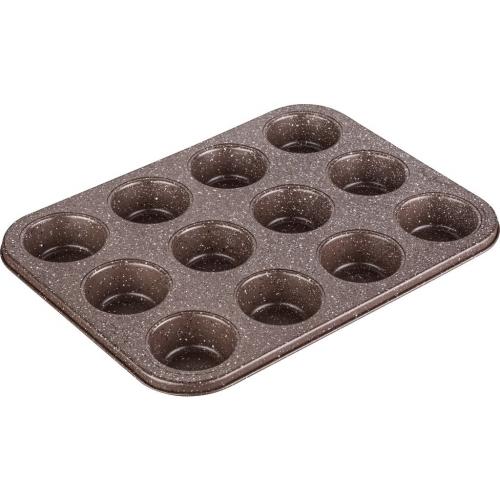 LAMART LT3082 MARBLE forma 12 muffinů 35,5x26,5 cm hnědá