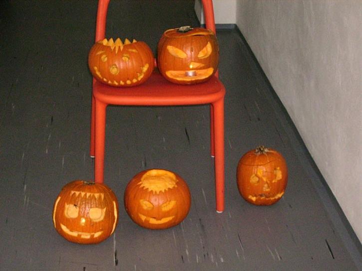 Halloweenské dýně