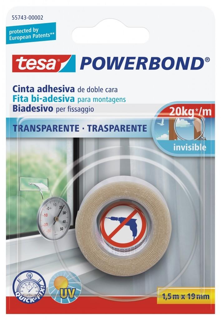 Transparentní páska je vhodná k uchycení průhledných předmětů