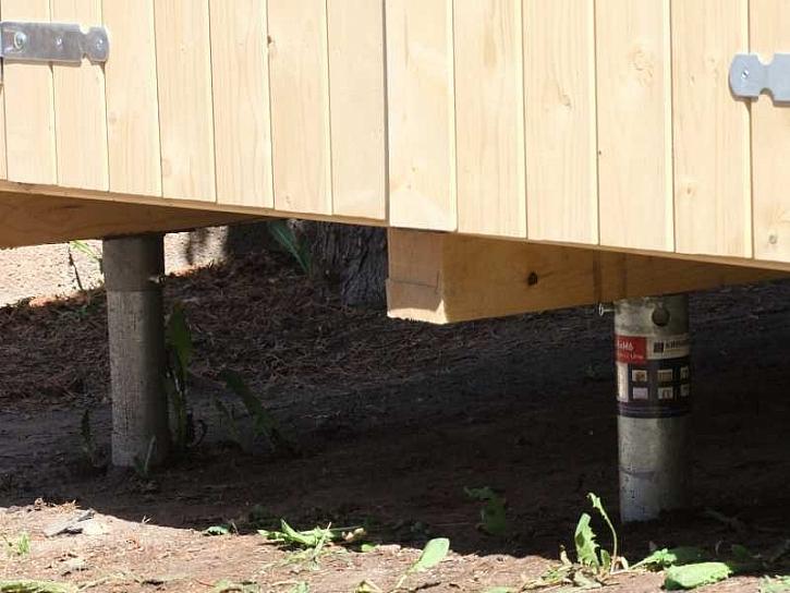 Zahradní domek na zemních vrutech