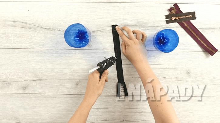 Jak vyrobit praktické pouzdro na kosmetické potřeby: Zásobník z PET lahve  2