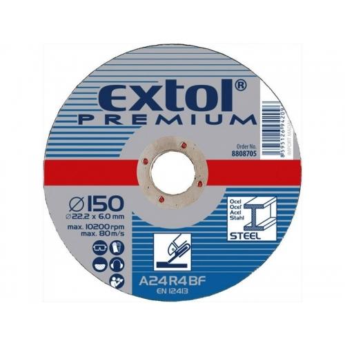 EXTOL PREMIUM kotouč řezný a brusný, brusný na ocel 115x6,0x22,2mm