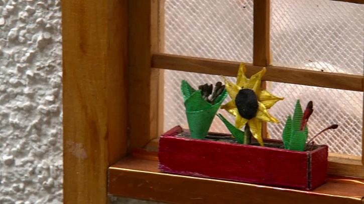Skleněné mini kytky