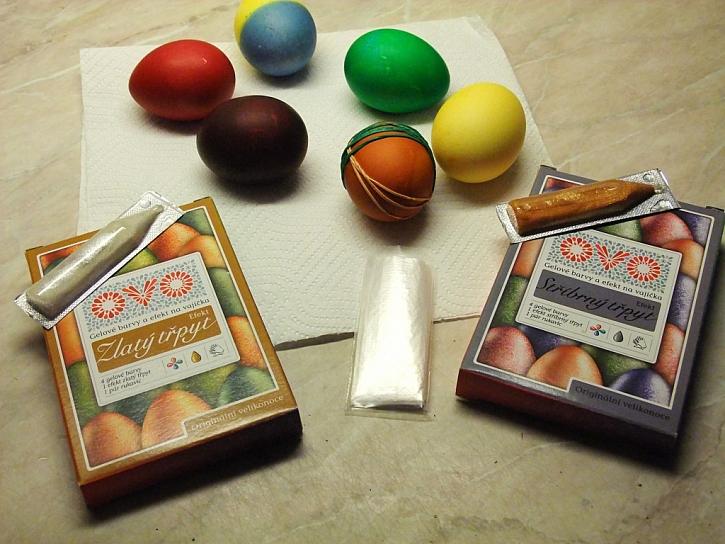 barevné efekty na vajíčko
