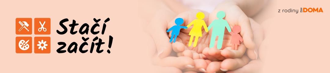 Grafika pořadu - Vyrábí celá rodina máma, táta i děti.