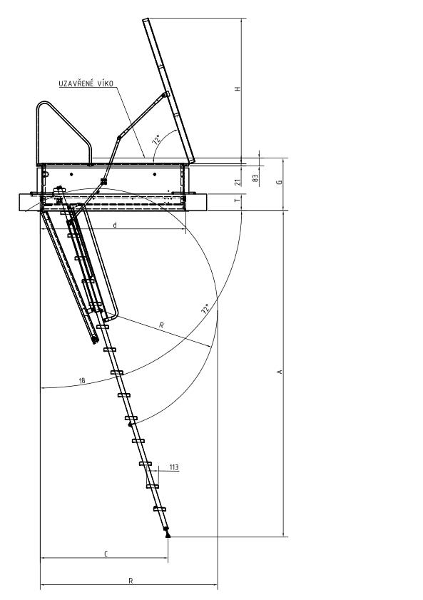 Model (1) - technicky_vykres_stahovaci_schody_ARISTO_zdroj_JAP[...]