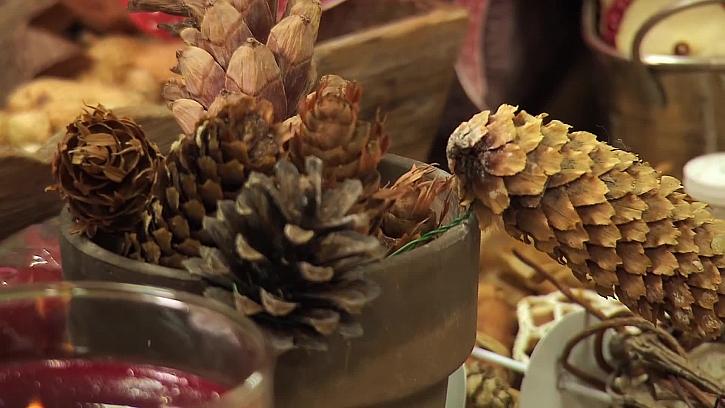 Šišky pro vánoční zdobení