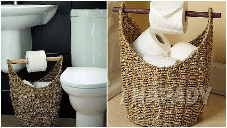 Toaletní papír: vyplétaný koš
