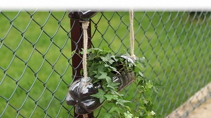 Jak vyrobit květináč z obyčejné pet láhve