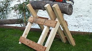 Jak si vyrobit kozu aneb Je nejvyšší čas myslet na zásoby dřeva na zimu