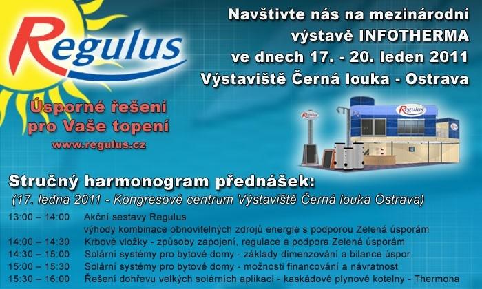 Společnost Regulus Vás zve na XVIII. ročník výstavy INFOTHERMA