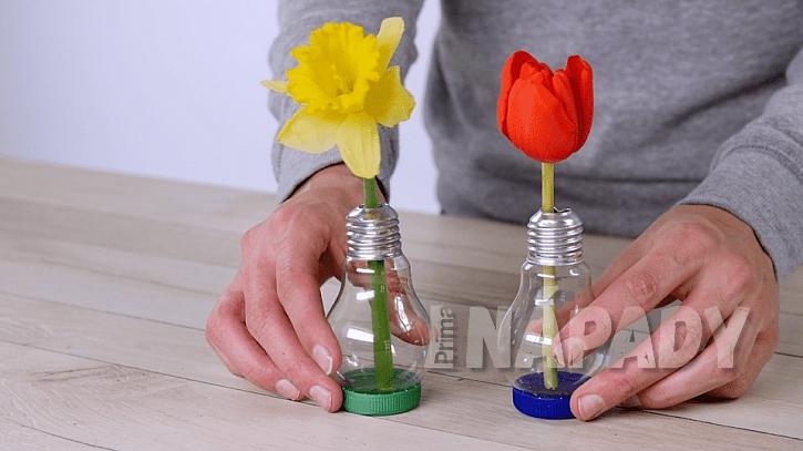 Jak vyrobit mini vázičku z obyčejné žárovky 3
