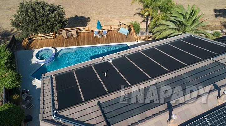 Ohřev vody solárními panely