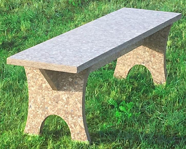 Lavička z desky PackWall Design