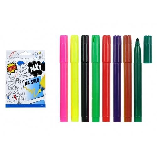Wiky fixy 831049 na sklo 8 barev