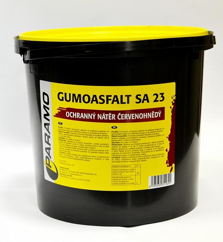 Oprava ploché střechy suspenzí GUMOASFALT SA-12 s povrchovou úpravou GUMOASFALT SA-23 (REFLEXOL)