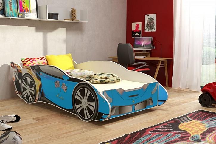 Z postele ve tvaru sporťáku budou kluci (i některé holky) nadšení.