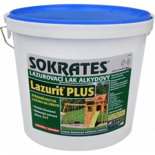 Sokrates Lazurit Plus středněvrstvá lazura na dřevo, pinie, 4 kg