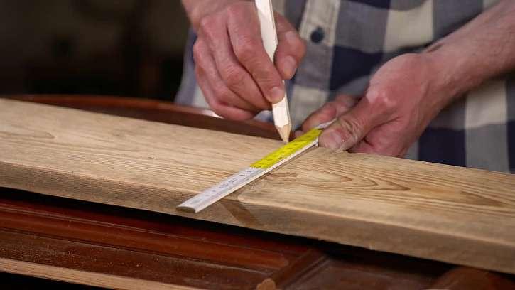 Měření délky desky