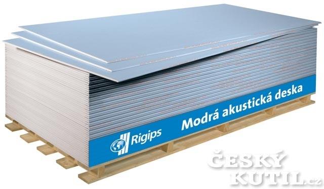 S hlukem si poradí modrá akustická deska Rigips