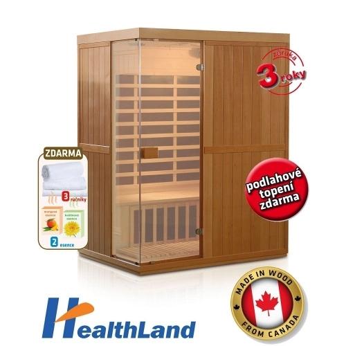 HEALTHLAND Infrasauna DeLuxe 3300 Carbon