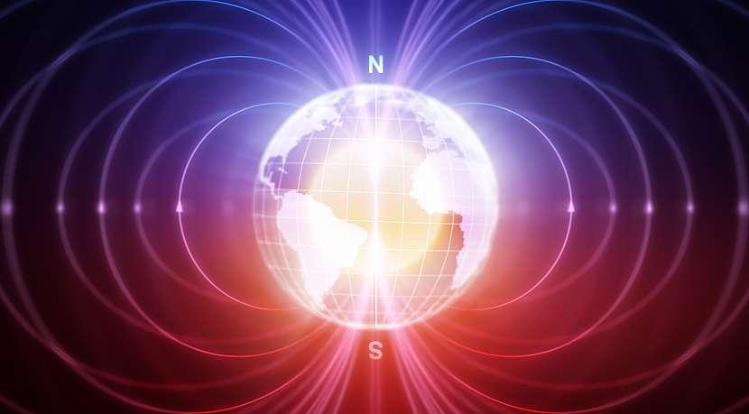 Schéma magnetického pole