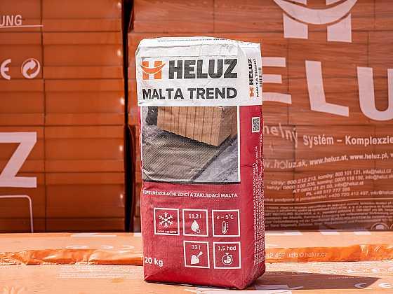 Podzim bude patřit ještě maltě HELUZ SIDI, pak nastoupí zimní malty HELUZ (Zdroj: Heluz)