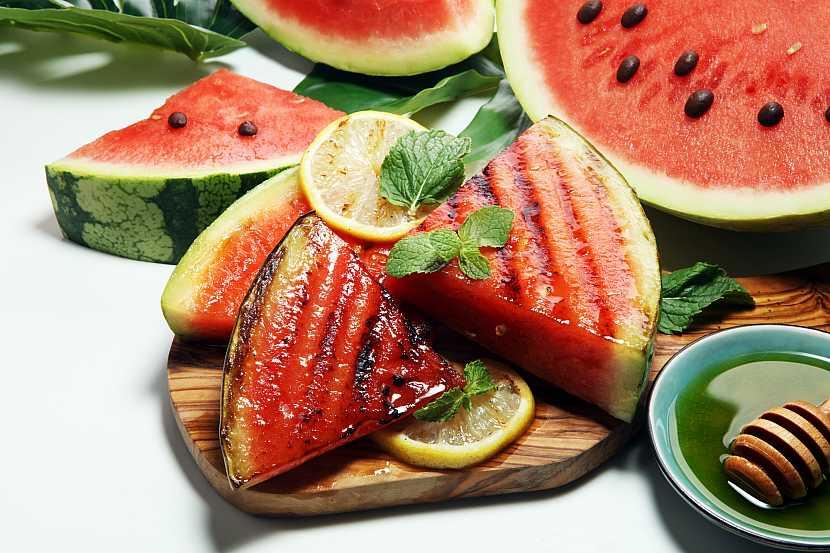 Grilovaný meloun
