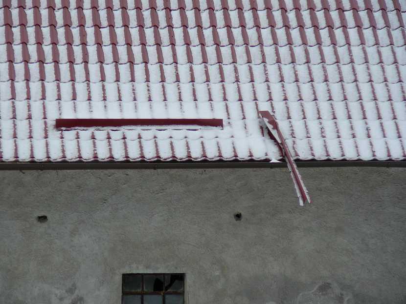 Špatně založené sněhové zábrany