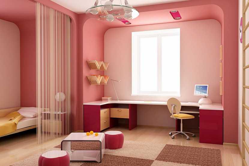 Postel umístěte do klidné části pokoje, je možné k rozdělení používat paravány