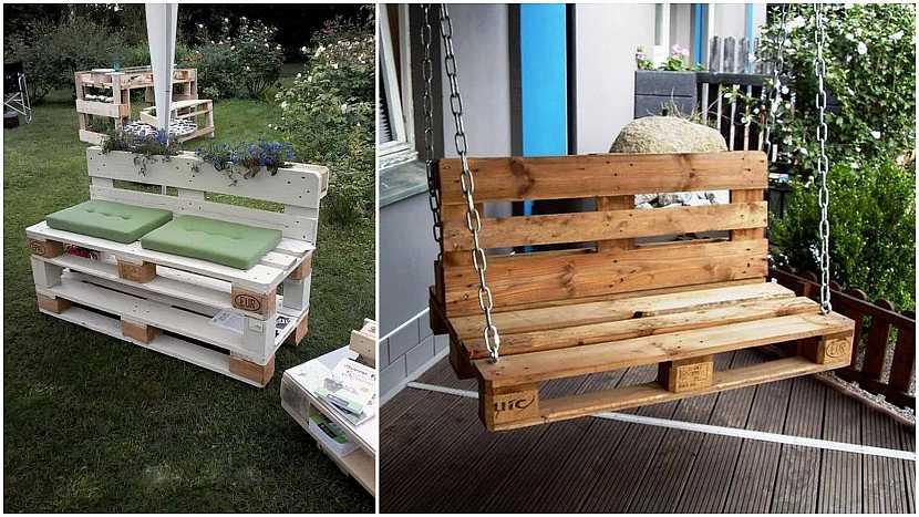 Netradiční lavičky do zahrady: oblíbené palety