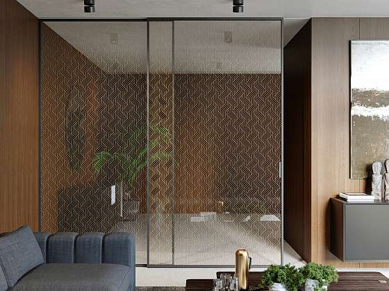 Posuvné dveře s Grafosklem (Zdroj: JAP FUTURE)