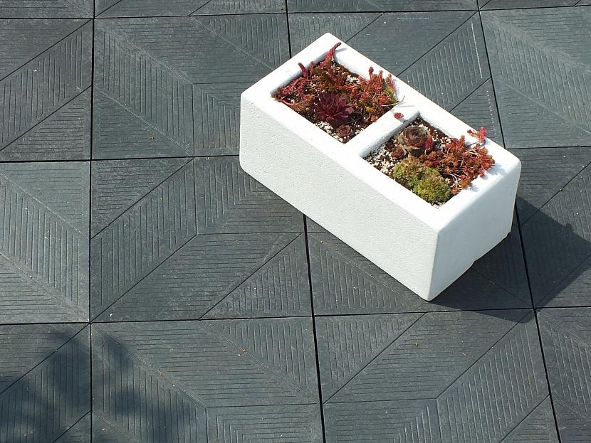 terasa z plastových dlaždic