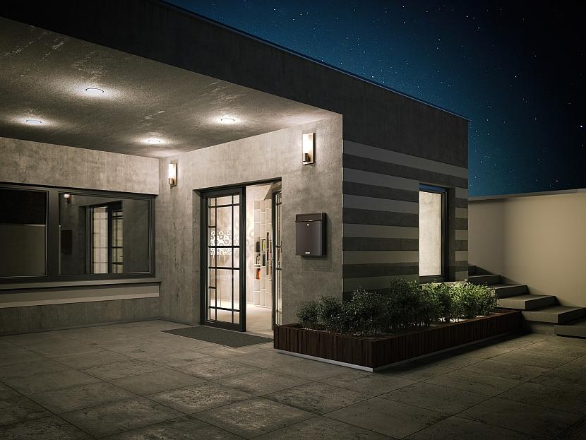 Osvětlený vstup do domu