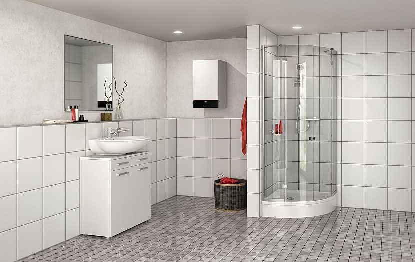 plynový kotel v koupelně