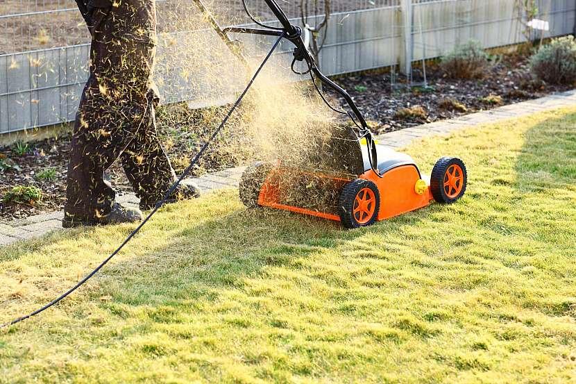 Vertikutátor vám pomůže trávník zbavit mechů a plsti