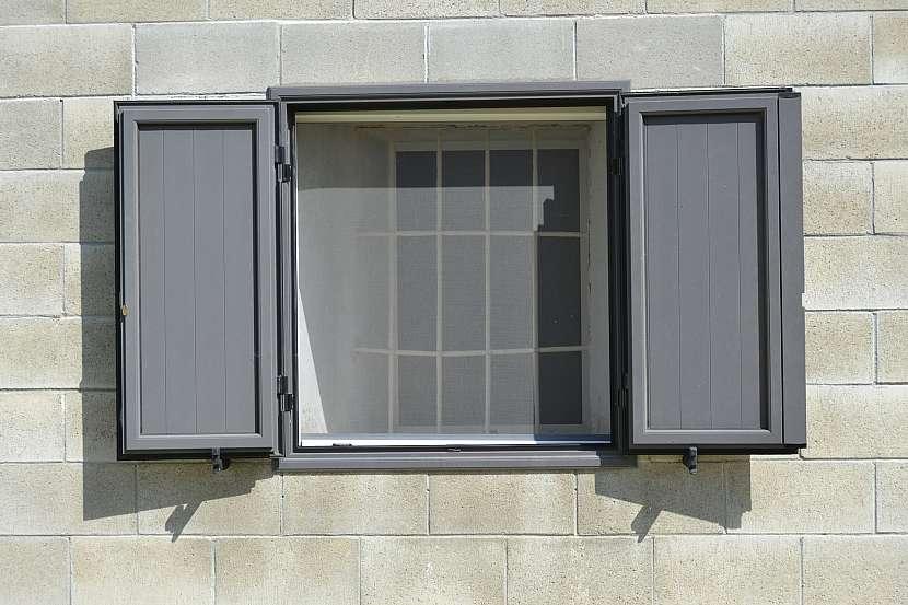 Okno se síťkou proti hmyzu