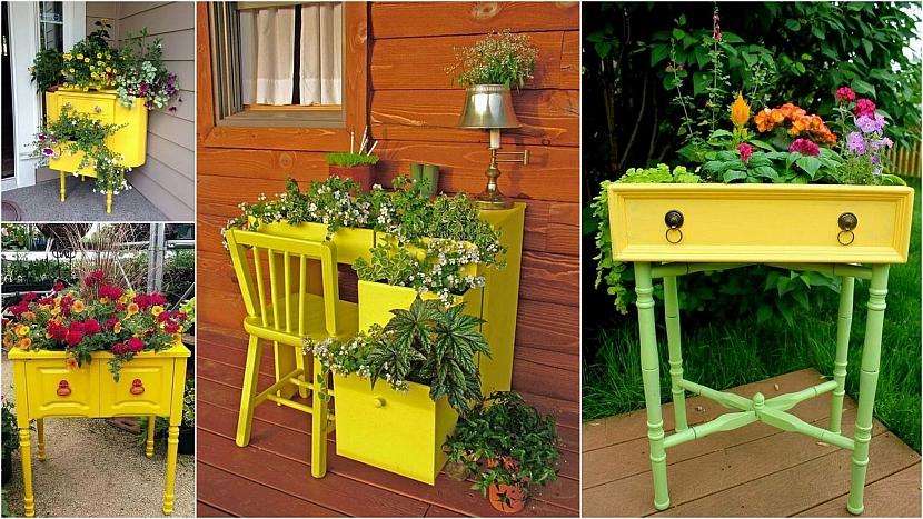 Barevná zahrada: Starší nábytek se ještě hodí