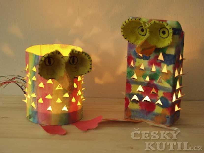 Barevní ptáčci z papíru – výroba svícnu
